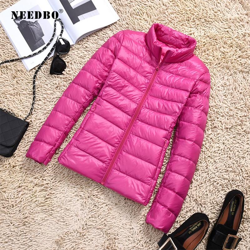 NEEDBO Down Coat Winter Oversize Winter Autumn Womens Down Jackets Ultra Light Warm Puffer Jacket Coat Lady Down Jacket Parka