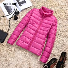 NEEDBO Down Coat Winter Oversize Autumn Womens Jackets ultra Light Warm Puffer jacket Lady Jacket Parka