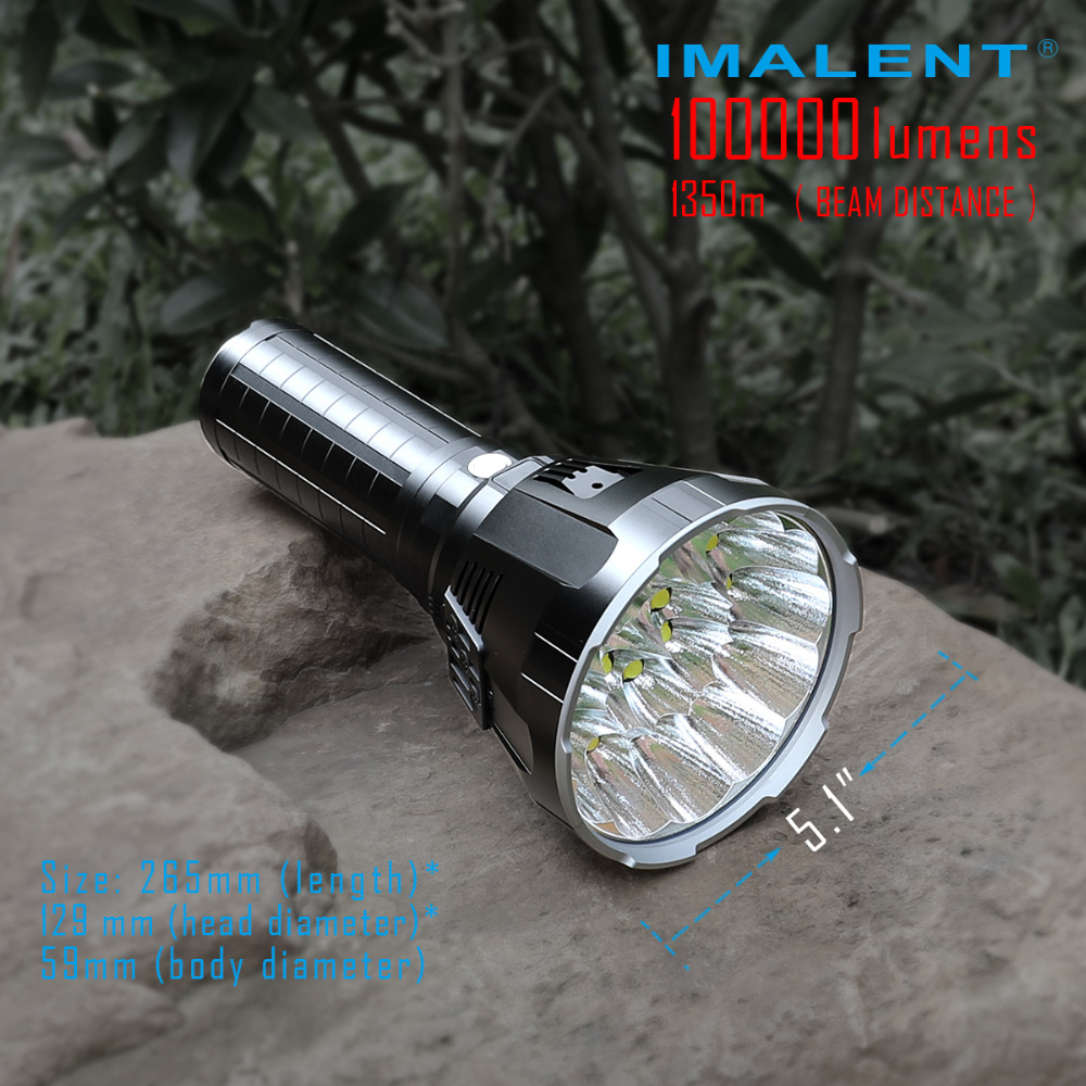 Image 5 - IMALENT MS18 LED Flashlight CREE XHP70.2 100000 LM Waterproof Flash light with 21700 Battery + OLED Display Intelligent Charging-in LED Flashlights from Lights & Lighting