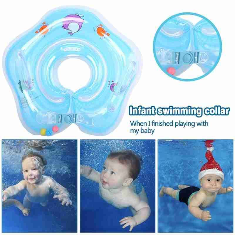 Swimming Baby Accessories Neck Float Ring Tube Safety Infant Float Circle For Bathing Inflatable Inflatable Water Float