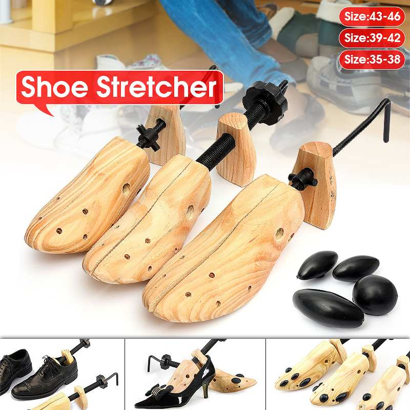 New 1 Piece Shoe Tree Wood Shoes Stretcher, Wooden Adjustable Man Women Flats Pumps Boot Shaper Rack Expander Trees Size S/M/L