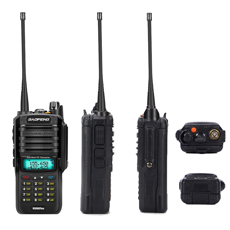 2pcs 8000mah 10W Baofeng UV-9R plus waterproof walkie talkie for CB ham radio station 10 km two way radio uhf vhf mobile plus 9r (29)