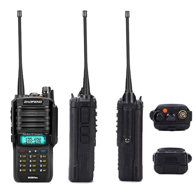 2pcs 8000mah 10W Baofeng UV-9R plus waterproof walkie talkie for CB ham radio station 10 km two way radio uhf vhf mobile plus 9r (29)
