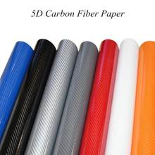 127x30CM 5D Carbon Fiber Film Paper Car Wrap Sheet Roll Film Surface Modification Personalized Stickers Auto Car DIY Decor Paper