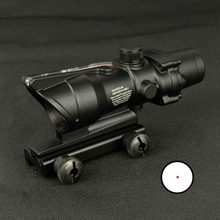 Tactical ACOG 1X32 Red Dot Sight Real Red Green Fiber Optic