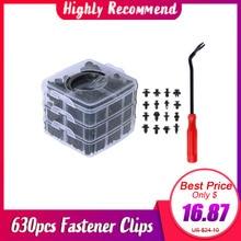 630pcs set of Car Body Push Pin Rivets Car Bumper Repairing Kits Fastener Clip Expansion Clips Auto plastic clips fasteners