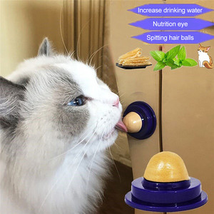 1 PCS Healthy Cat Snacks Catnip Sugar Candy Licking Nutrition Gel Energy Ball Toy for Cats Kittens Increase Drinking Water Help(China)