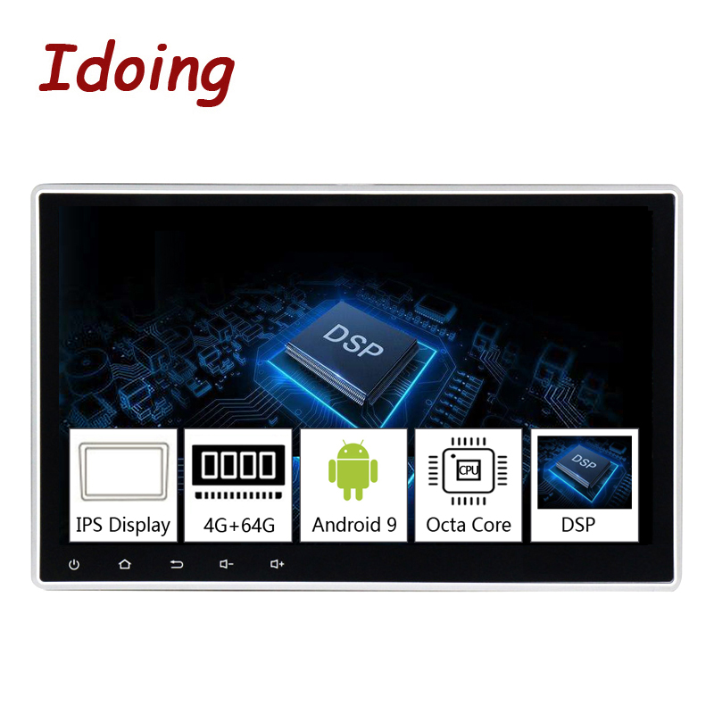 Idoing 1Din 10.2PX5 4G+64G Octa Core Universal Car GPS DSP Radio Player Android 9.0 IPS screen Navigation Multimedia Bluetooth