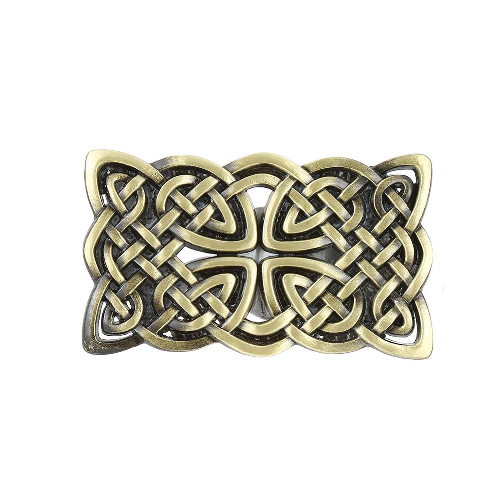Knot Grass Rectangle  Belt  Buckle For Woman Western Cowboy Buckle Without Belt Custom Alloy Width 4cm