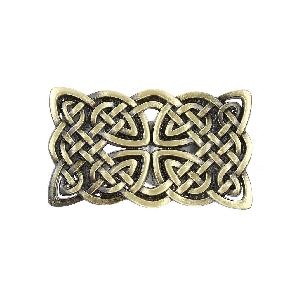 Knot Grass Rectangle  Belt  Buckle For Woman Western Cowboy Buckle Without Belt Custom Alloy Width 4cm