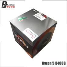Procesador de CPU AMD Ryzen 5 3400G R5 3400G 3,7 GHz Quad Core de ocho hilos 65W L3 = 4M YD3400C5M4MFH Socket AM4 nuevo y con ventilador