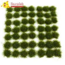 147Pcs Grass Cluster Static Tufts For 1:35 1:48 1:72 1:87 Sand Table Architecture Model - Dark Green