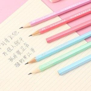 Image 5 - 100 個かわいい木の鉛筆hbグラファイト鉛筆学校事務用品かわいい文房具クリスマス賞品子供のための送料無料