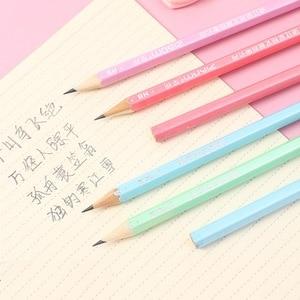 Image 5 - 100 stücke Kawaii Holz Bleistifte HB Graphit Bleistift für Schule Büro Supplies Niedlich Schreibwaren Weihnachten Preise für Kinder Freies Verschiffen