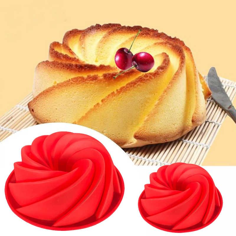 مطبخ صغير ثلاثية الأبعاد دوامة شكل سيليكون زبدة قالب الكعكة أدوات المطبخ الخبز شكل لكعكة مخبز صواني للفرن خبز