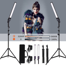 GSKAIWEN 2 Packs Dimmable Bi Color Photography Lighting Studio LED Video Light Kit with Tripod Stand for Portrait Product Shoot