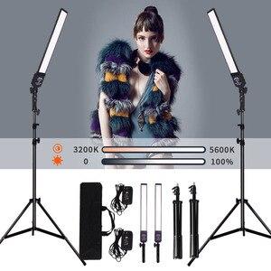 Image 1 - GSKAIWEN 2 paket dim bi renkli fotoğrafçılık aydınlatma stüdyosu LED Video ışık kiti tripod standı portre ürün ateş