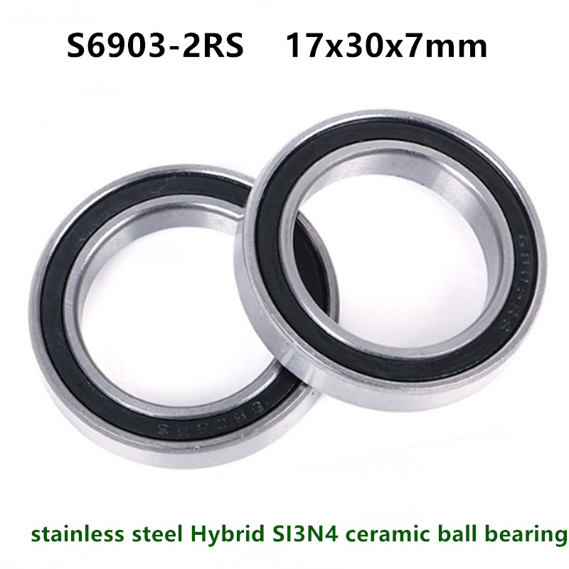 10 pack 61903 2rs 17x30x7mm Stainless Steel HIGH PERFORMANCE BEARINGS 6903