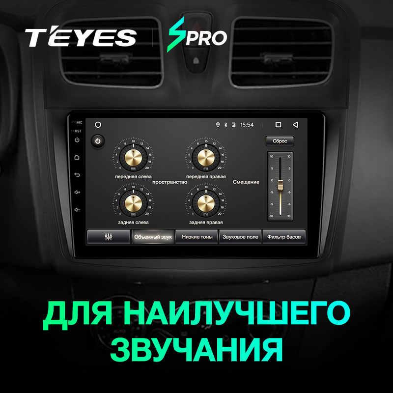 TEYES SPRO ルノーローガン 2 2012-2019 サンデロ 2014-2019 カーラジオマルチメディアビデオプレーヤーナビゲーション GPS アンドロイド 8.1 なし 2din
