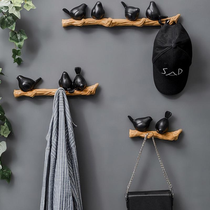 Key Hanger Decorative Vintage Resin Bird Wall Hooks Space Saving Easy Install Home Wooden Door Back Storage Rack Sundries Hanger Hooks Rails Aliexpress