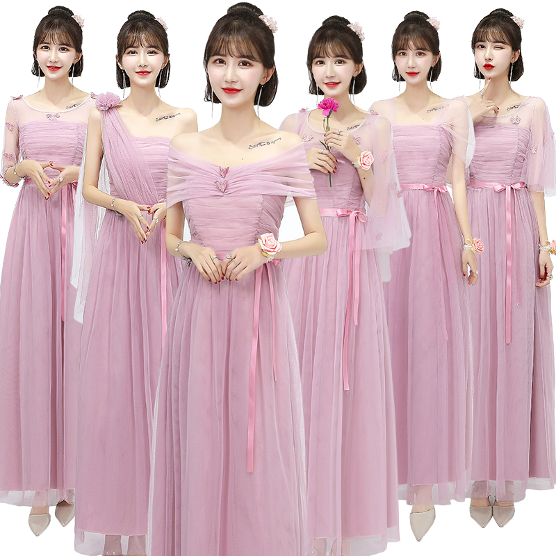 Long Dresses For Guest Wedding Party Sexy Princess Graduation Pink Gray Bridesmaid Tulle Special Occasion Dresses Prom Vestido