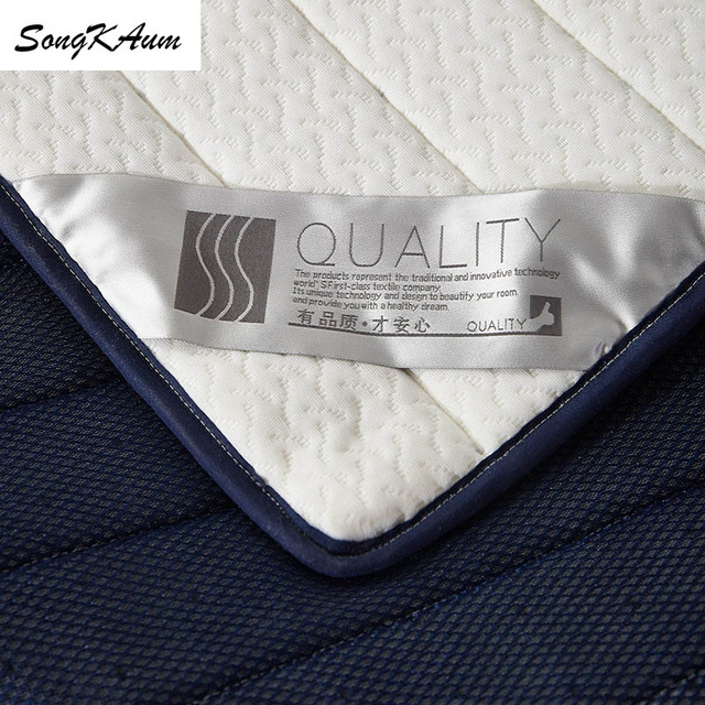 SongKAum high quality 100% Natural latex Mattresses single student dormitory Tatami Double home Mattress King Queen Size