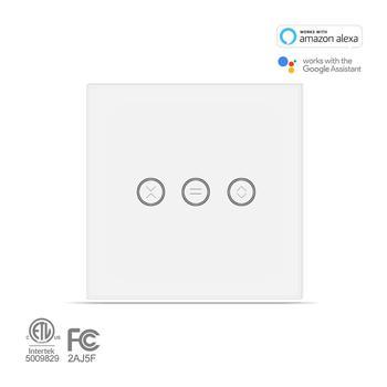 Interruptor De Cortina Inteligente Con WiFi Para Cortina Eléctrica Motorizada, Obturador De Rodillos Ciegos, La Aplicación Smart Life Funciona Con Alexa Google Home
