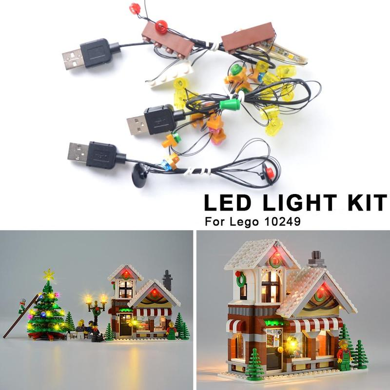 LED Light Kit For LEGO 10249 Christmas Toy Store DIY Luminous Assembled Building Blocks Led Light Kit Building Blocks Supplies