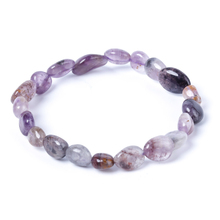 Fashion Jewelry 6x8/8x10mm Purple Phantom Bracelet Suits Charming Amulets for Men and Women