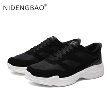 купить Men Sneakers Mesh Breathable Running Shoes Lace-up Trainers Sneakers Athletic Zapatos Outdoor Sport Shoes Plus Size 39-47 дешево
