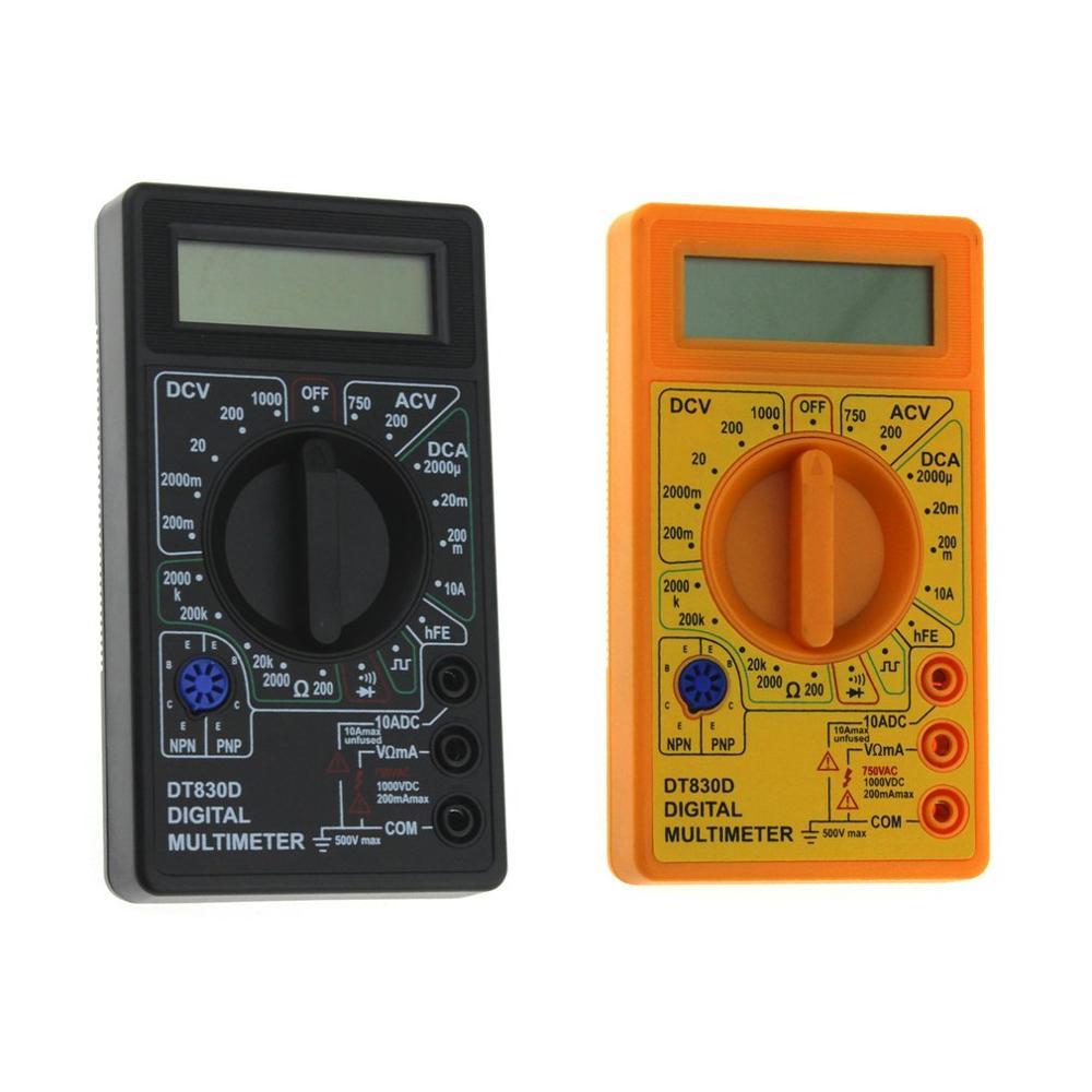 DT-830D мини карманный цифровой мультиметр 1999 отсчетов AC/DC Вольт Ампер Ом диод hFE тестер непрерывности Амперметр Вольтметр Омметр