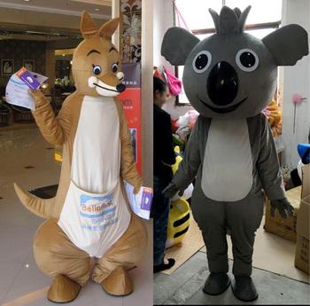 Kangur maskotki koala maskotki kreskówki ubrania urodziny Masquerade tanie i dobre opinie Dla dorosłych Kostiumy Boże narodzenie