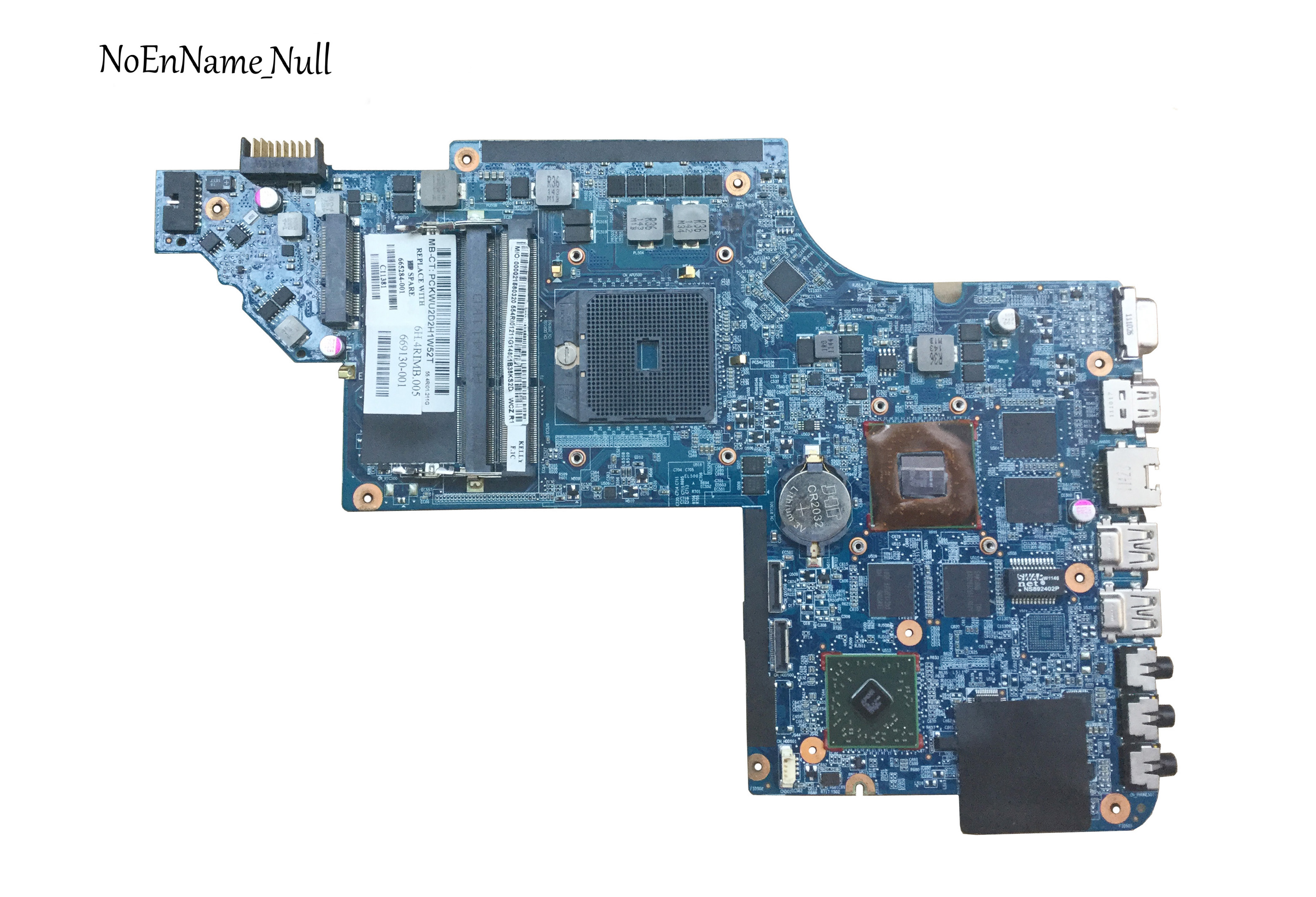 665284-001 Free Shipping Laptop Motherboard For HP DV6 DV6-6000 Motherboard 100% Tested Well
