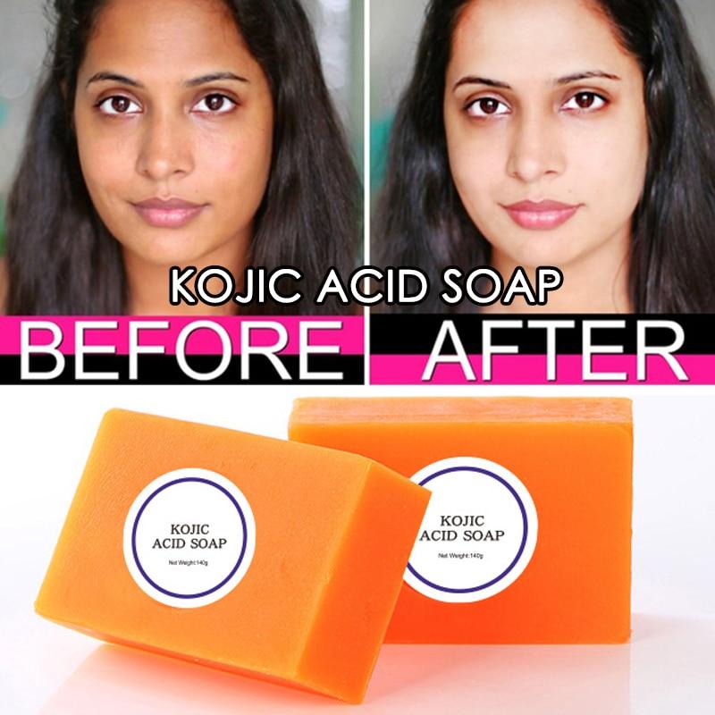 Черное Отбеливающее мыло для кожи, Kojic кислота, Отбеливающее мыло, Kojic кислота, глицерин, осветление, цветочное Отбеливающее мыло