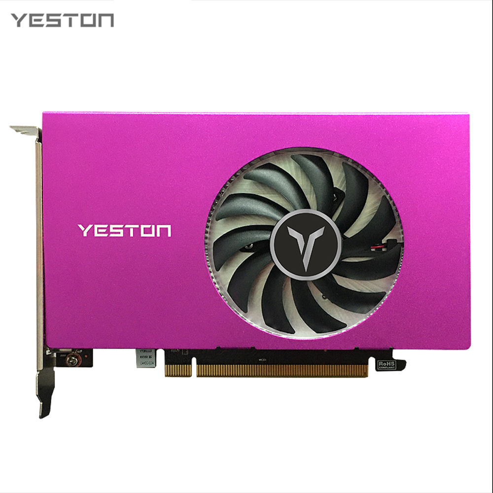 Yeston RX550-2G 4HDMI 4-Screen Graphics Card Support Split Screen 10bit Color Depth HDR 2G/128bit/GDDR5 with 4 HDMI Ports 1