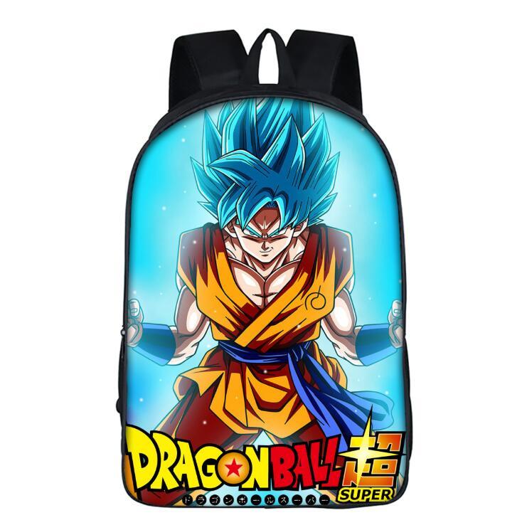 16 Inch Anime Dragon Ball Z Backpack For Teenage Boys Girls Super Saiyan Sun Goku Vegeta Beerus Schoolbags Daily Backpack Kids