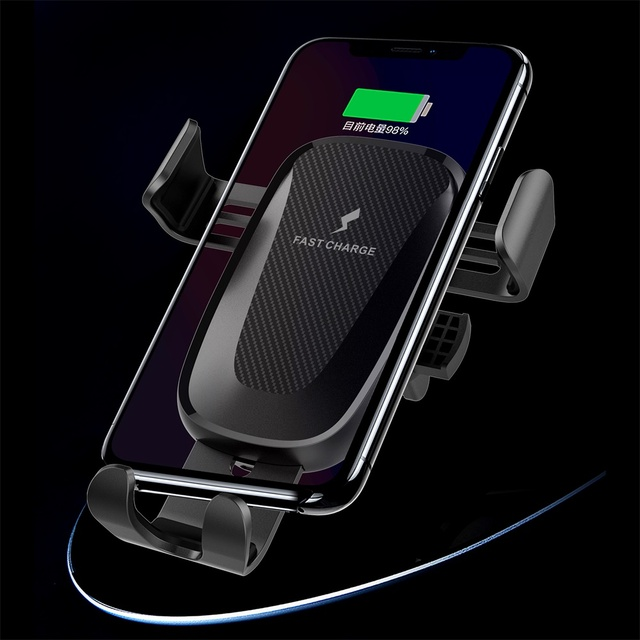 10W Wireless Car Charger Stand Houder Air Vent Clip Mount Voor Samsung Galaxy Note 10 Plus Snelle Opladen Telefoon car Holder Stand