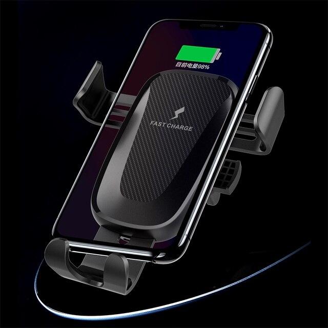 Soporte para cargador de coche inalámbrico de 10W, Clip de ventilación de aire para Samsung Galaxy Note 10 Plus, soporte de teléfono de carga rápida para coche