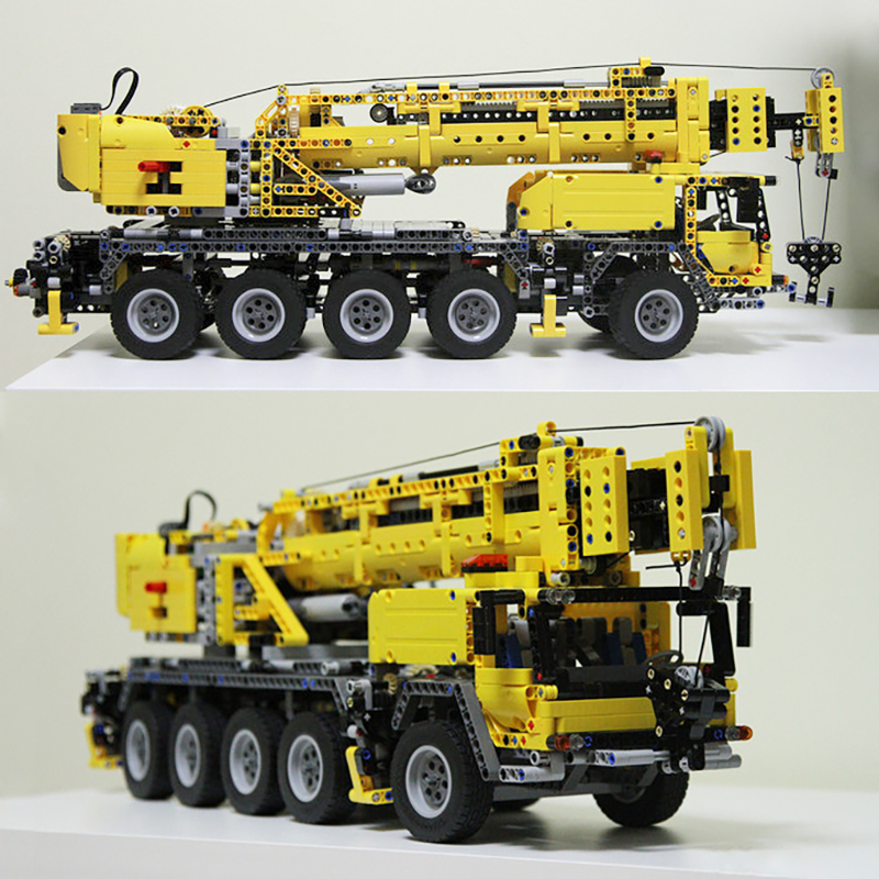20004 Technic Series Mobile Crane MK II Building Blocks Electric Motors Power Functions Model Toys Gift Technic <font><b>42009</b></font> image
