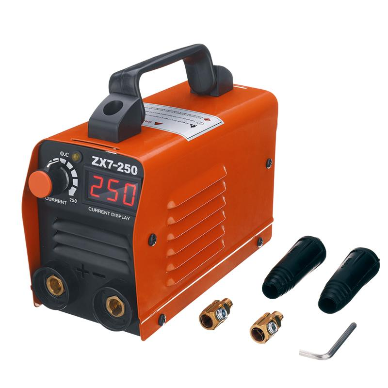 ZX7-250 250A Mini Electric Welding Machine Portable Digital Display MMA ARC DC Inverter Plastic-welder Weld Equipment Durable