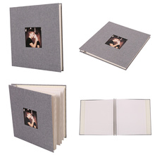Get more info on the Linen Cover Picture Album Self-adhesive Film DIY Handmade Scrapbook Memory Photo Book Sticky Type Grey Home Decor