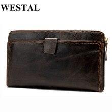 WESTAL Wallet Male Genuine Leather Men's Wallets