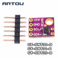 SHT30/SHT31/SHT35 Digital Output Temperature and Humidity Sensor Module IIC I2C Interface 3.3V GY-SHT31-D For Arduino
