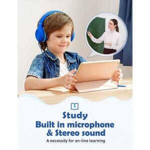 Image 2 - 2 個mpow CH6Sキッズヘッド有線ヘッドセット子供のための調整可能な折りたたみデザインとヘッドセットマイクボリューム制限pc MP3