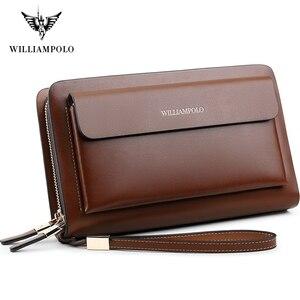 Image 1 - Williampolo ブランドファッション高品質メンズクラッチ財布高級財布男性オーガナイザー財布 PL162