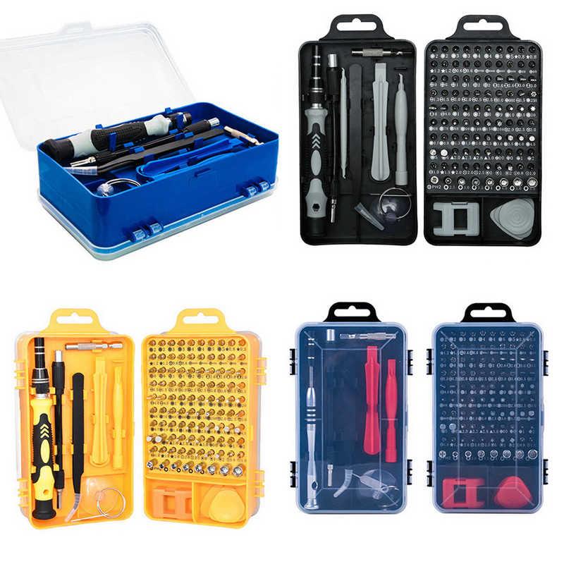 Zestaw śrubokrętów 115 w 1 zestaw śrubokrętów precyzyjnych narzędzi naprawczych z futerał do przenoszenia do laptopów naprawa telefonu narzędzia ręczne do domu nowość