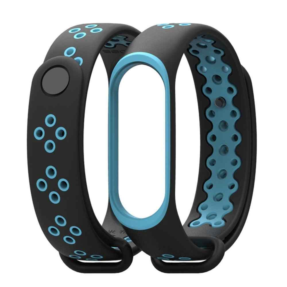 For Xiaomi Mi Band 4 Replacement Sport Silicone Strap Wristband Bracelet Fashion Two-Tone Replacement Strap