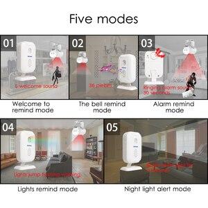 Image 5 - אזעקה ברוכים אלחוטי פעמון קטן חנות או בית קפה, חנות כניסה PIR Motion חיישן אינפרא אדום גלאי אינדוקציה פעמון