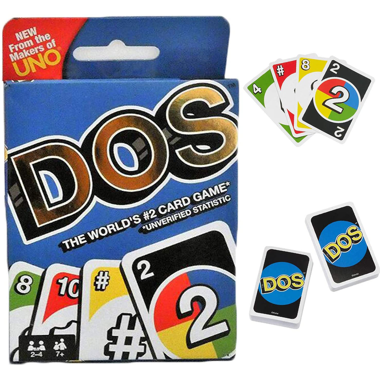 UNO : Dos - Card Game Family Party Board Game Toys Fun The World's #2 Card Game Unverified Statistic