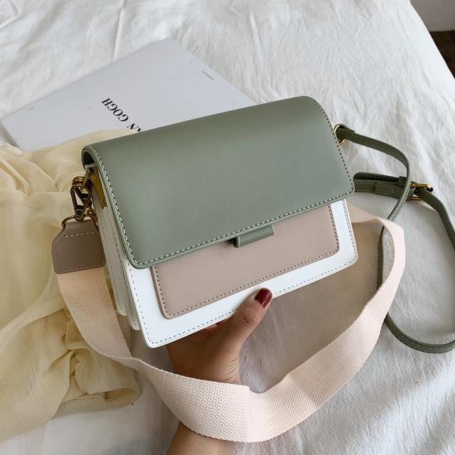 Mini Leder Umhängetaschen Für Frauen 2020 Grün Kette Schulter Messenger Bag Lady Reise Geldbörsen und Handtaschen Kreuz Körper Tasche 1